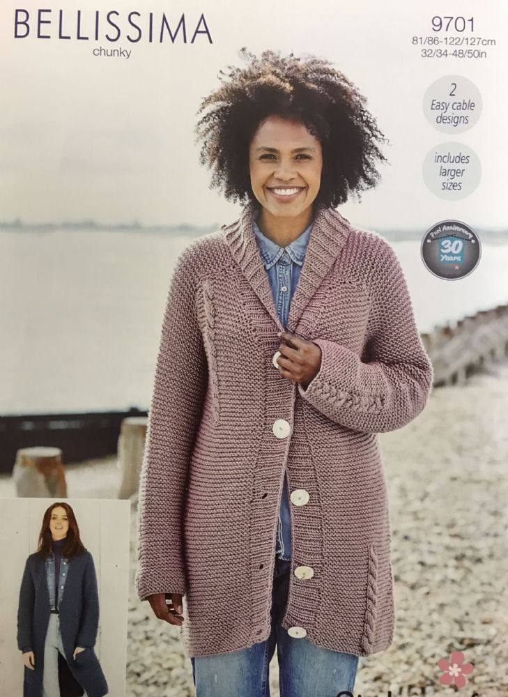 SCP Bellissima Chunky Pattern 9701 Jacket and Cardigan